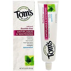 トムズオブメイン アンチプラーク&ホワイトニング ハミガキ粉(フッ素フリー) ※スペアミント