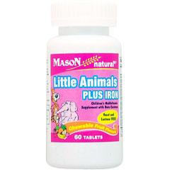 お子様用 リトルアニマルズ 鉄含有 マルチビタミンチュワブル