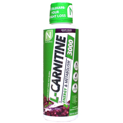 Lカルニチン リキッド 3000 グレープクラッシュ味 液体カルニチン 473ml Liquid L-CARNITINE 3000 Grape Crush NutraKey(ニュートラキー)