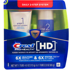 【使用期限2019年6月】クレスト プロヘルス HD デイリー2ステップシステム(ピュリファイングクレンザー&パーフェクティングジェル)