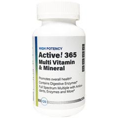 【賞味期限2021年11月】【定期購入あり】Active!365 マルチビタミン&ミネラル 120粒 Active!(アクティブ)365 Multi Vitamin&Mineral Health Doctor U.S (ヘルスドクターユーエス)