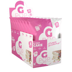 ☆【賞味期限2021年2月】Gポップ プロテインポップコーン ※バースデーケーキ 8袋入