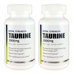 タウリン1000mg 2個セット Extra Strength Taurine 120粒【2個セット】【定期購入あり】【今だけ送料無料】