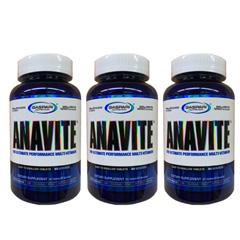 【送料無料】【3個セット】アナバイト アスリート用マルチビタミン&ミネラル 180粒 Anavite Sport Multi-Vitamin