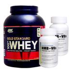 【正規品】【超お得セット】100%ホエイ ゴールドスタンダード プロテイン約2.3kg ※ストロベリー (1個)& HMB+VD3(2個)