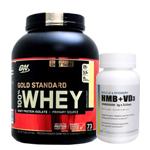 【超お得セット】100%ホエイ ゴールドスタンダード プロテイン約2.3kg ※バニラアイスクリーム (1個)& HMB+VD3(1個)