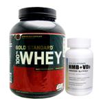 【正規品】【超お得セット】100%ホエイ ゴールドスタンダード プロテイン約2.3kg ※エクストリームミルクチョコ(1個)& HMB+VD3(1個)