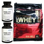 【正規品】【超お得セット】100%ホエイ ゴールドスタンダード プロテイン約4.5kg ※エクストリームミルクチョコレート(1個)& HMB+VD3(2個)