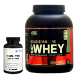 【正規品】【超お得セット】100%ホエイ ゴールドスタンダード プロテイン約2.3kg ※チョコレートミント (1個)& HMB+VD3(1個)