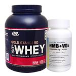 【正規品】【超お得セット】100%ホエイ ゴールドスタンダード プロテイン約2.3kg ※チョコレートモルト(1個)& HMB+VD3(1個)