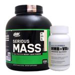 【超お得セット】シリアスマス ウェイトゲイナー ※バニラ 約2.72kg  (1個)& HMB+VD3(1個)