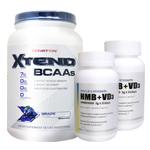 【超お得セット】[大容量約1.2kg]エクステンド(BCAA+Lグルタミン+シトルリン)※グレープ(1個)&HMB+VD3(2個)
