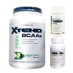 【超お得セット】[大容量約1.2kg]エクステンド(BCAA+Lグルタミン+シトルリン)※グリーンアップル(1個)&HMB+VD3(1個)&タウリン1000mg(1個)