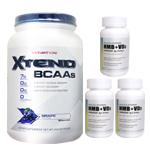 【超お得セット】[大容量約1.2kg]エクステンド(BCAA+Lグルタミン+シトルリン)※グレープ(1個)&HMB+VD3(3個)