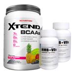 【超お得セット】[大容量約1.2kg]エクステンド(BCAA+Lグルタミン+シトルリン)※フルーツパンチ(1個)&HMB+VD3(2個)