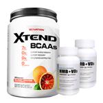 【超お得セット】[大容量約1.2kg]エクステンド(BCAA+Lグルタミン+シトルリン)※ブラッドオレンジ(1個)&HMB+VD3(2個)