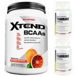【超お得セット】[大容量約1.2kg]エクステンド(BCAA+Lグルタミン+シトルリン)※ブラッドオレンジ(1個)&タウリン1000mg(2個)