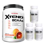 【超お得セット】[大容量約1.2kg]エクステンド(BCAA+Lグルタミン+シトルリン)※ブラッドオレンジ(1個)&HMB+VD3(3個)