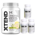 【超お得セット】[大容量約1.2kg]エクステンド(BCAA+Lグルタミン+シトルリン)※レモンライム(1個)&HMB+VD3(3個)