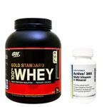 Active!365 マルチビタミン&ミネラル(1個)&100%ホエイ ゴールドスタンダード プロテイン約2.3kg ※ダブルリッチチョコ(1個)