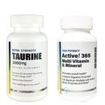 Active!365 マルチビタミン&ミネラル(1個)& タウリン1000mg(1個)