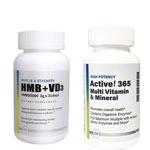Active!365 マルチビタミン&ミネラル(1個)&HMB+VD3(ビタミンD3) 3000mg 180粒 プラスチックボトルタイプ(1個)