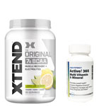 Active!365 マルチビタミン&ミネラル(1個)& [ 約1.2kg ] エクステンド (BCAA+Lグルタミン+シトルリン) ※レモンライム(1個)