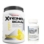 Active!365 マルチビタミン&ミネラル(1個)& [ 約1.2kg ] エクステンド (BCAA+Lグルタミン+シトルリン) ※パイナップル(1個)