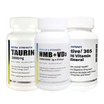 【送料無料】【超お得セット】HMB+VD3&タウリン1000mg&Active!365 マルチビタミン&ミネラル