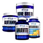【超お得セット】アナバイト+グルタミン+ボーンブロス+ビタミンC (イミュニティ サポート スタック セット) Gaspari Nutrition