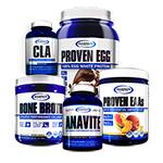 【超お得セット】アナバイト+CLA+ボーンブロス+エッグプロテイン+EAA ケトパワー スタック#1 ギャスパリ/Gaspari Nutrition