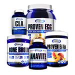 【超お得セット】アナバイト+CLA+ボーンブロス+エッグプロテイン+EAA ケトパワー スタック#2 ギャスパリ/Gaspari Nutrition