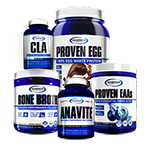 【超お得セット】アナバイト+CLA+ボーンブロス+エッグプロテイン+EAA ケトパワー スタック#3 ギャスパリ/Gaspari Nutrition
