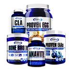 【超お得セット】アナバイト+CLA+ボーンブロス+エッグプロテイン+EAA ケトパワー スタック#4 ギャスパリ/Gaspari Nutrition
