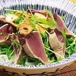 ☆香味野菜とカツオのサラダ (ナイアシン 補給)