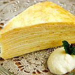 ☆メープル風味の豆腐クリームミルクレープ (タンパク質 補給)