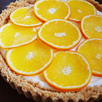 ☆オレンジの焼かないチーズタルト