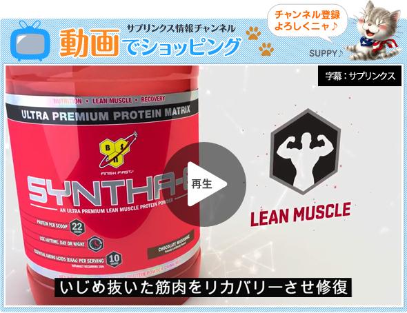 動画でショッピング ロニー・コールマン氏愛用!BSN社シンサ-6 タイムリリース型プロテイン