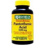 パントテン酸(ビタミンB5) 500mg (タイムリリース型)