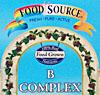 フードソース ビタミンBコンプレックス 60粒(100%食物由来)